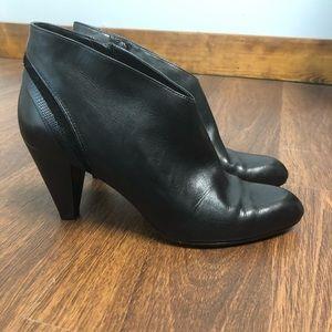Cole Haan Black Leather Sleek Booties